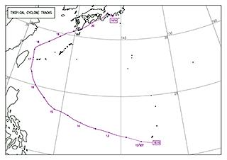 気象庁台風経路図