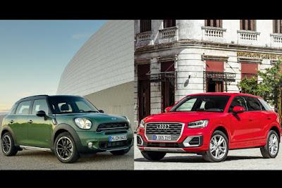 Audi Q2 e Mini Countryman si sfidano