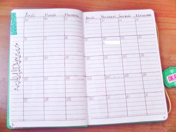 Bullet Journal setup planner - Un Bout de Life
