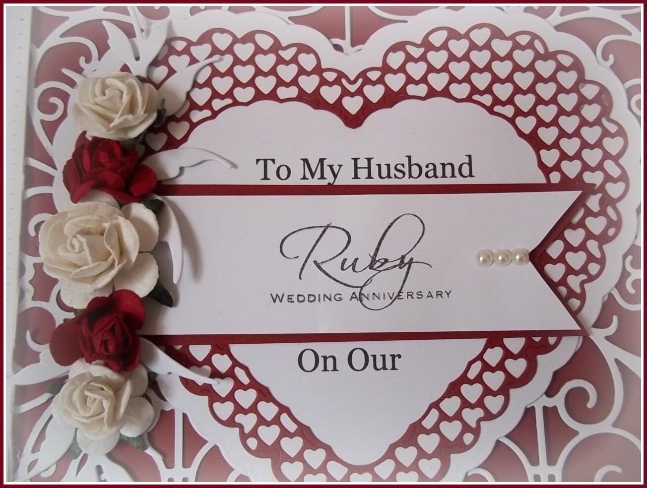My Creative Place A Ruby Wedding Card