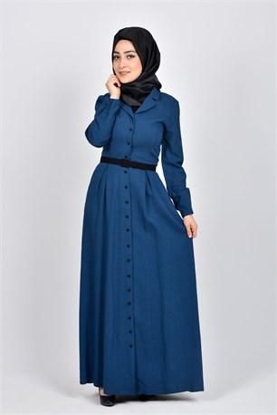 azur mavisi elbise