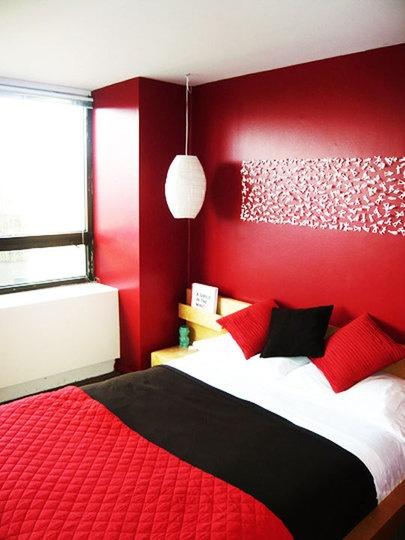 Decorar dormitorio de color rojo decorar tu habitaci n - Decoracion de paredes de dormitorios ...