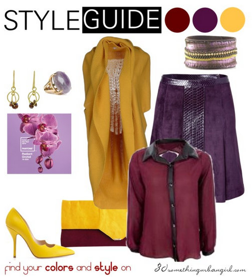 fashionable work wear outfit with Radiant Orchid for Deep Autumn