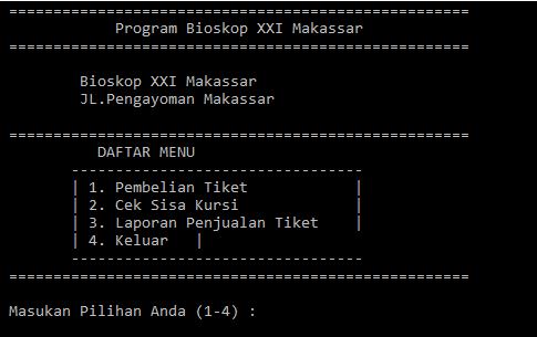 Program Penjualan Tiket Bioskop Menggunakan C++ - TutorialsWB ...