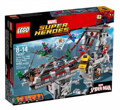 TOYS : JUGUETES - LEGO Super Heroes : Marvel  76057 Spider-Man  Combate definitivo entre los guerreros arácnidos  Spider-Man : Web Warriors Ultimate Bridge Battle  Producto Oficial 2016 | Piezas: 1092 | Edad: 8-14 años  Comprar en Amazon España