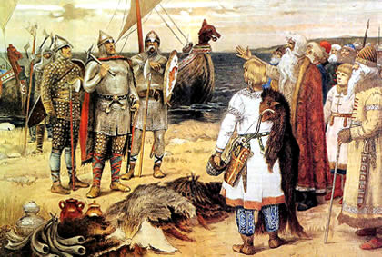 confederation of Slavs and Finns invited the Viking Riurik
