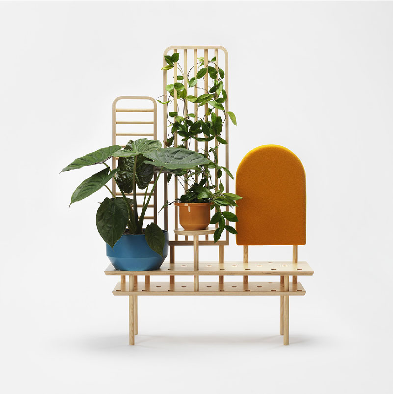 panca porta oggetti e porta piante