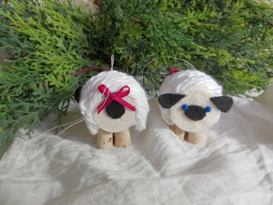 DIY Thread Spool Sheep Ornaments