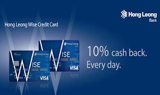Kad kredit Hong Leong Wise cash rebate