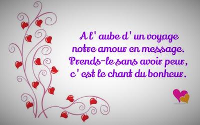Message mignon d'amour