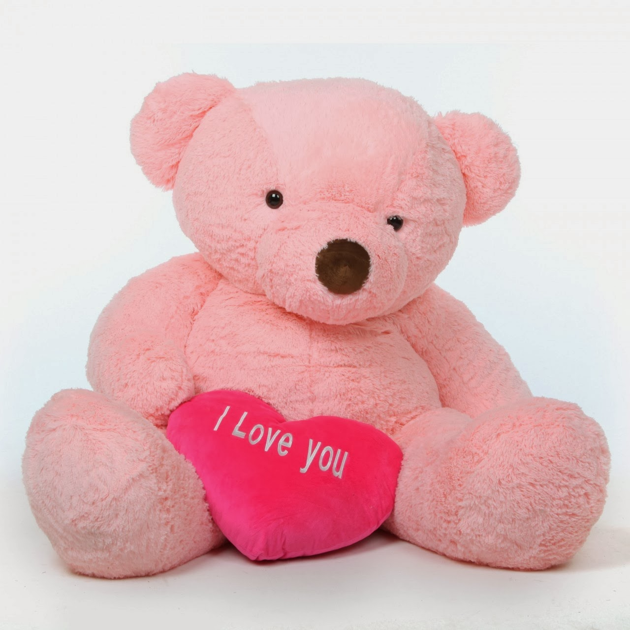 Gigi Chubs 55in huge pink teddy bear with I Love You heart