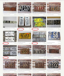 VintageMaineia vintage license plates