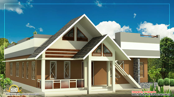 Single Story House - 1100 Sq. Ft. (102 Sq. M.) (122 square yards)