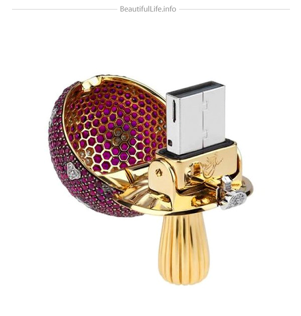 memoria flash USB de lujo con diamantes