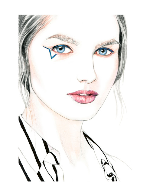 Illustration by Lidia Luna: The Starry Eye - Anthony Vaccarello FW15 Beauty Look