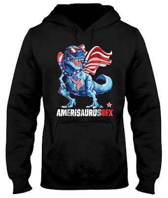 Dinosaur 4th of July 2018 Hoodie Sweatshirt