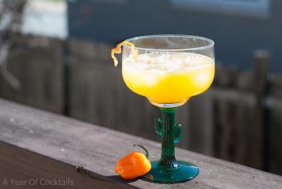 peach habanero margarita, peach nectar, silver tequila, habanero pepper, cointreau, lime juice, orange liqueur, cinco de mayo