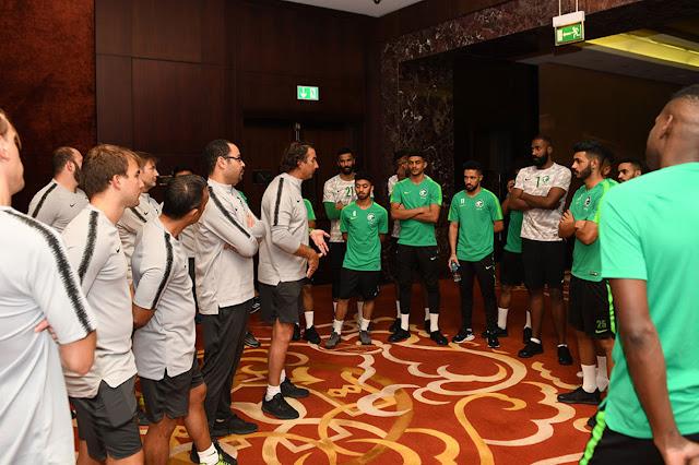الأخضر يكشف عن تحضيراته قبل مواجهة قطر.. (صور)
