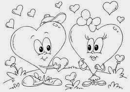 Dibujos de San Valentin para Colorear, parte 2