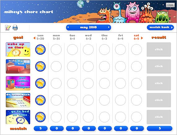 3 Garnets  2 Sapphires Free Chore Charts  Behavior Charts for