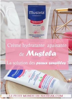 Crème hydratante apaisante de Mustela