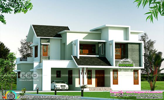 2200 sq-ft 4 bedroom modern box type home
