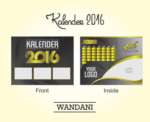 Free Vector : Desain Kalender Meja Keren