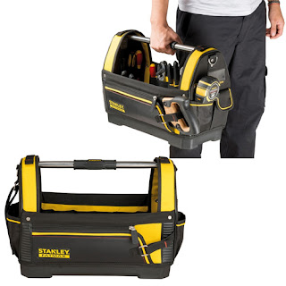 Lowest £19.89 Stanley 1-93-951 STA193951 Open Tote Bag FatMax 18″ waterproof plastic bottom