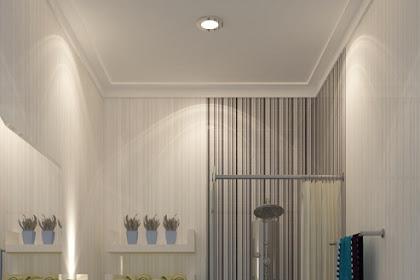 Jasa gambar kamar mandi ala hotel dinding keramik abu kaca tempered cermin beveled