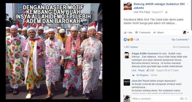 Pendukung Ahok Lecehkan Ulama dan Tokoh Umat Islam Di Sosmed, Sebarkan!