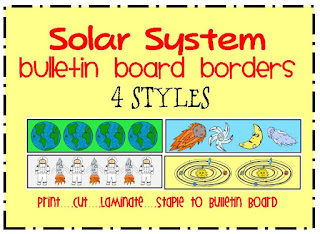 solar system  themed bulletin board borders