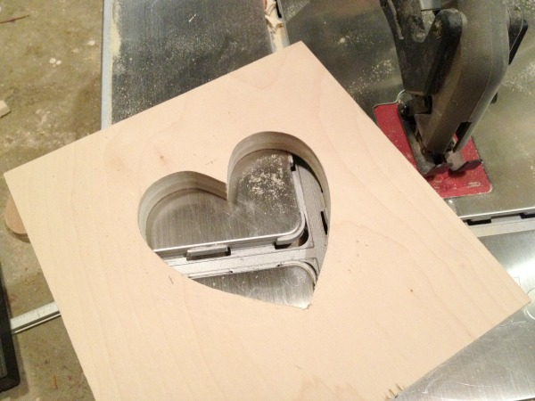 plywood heart cut out