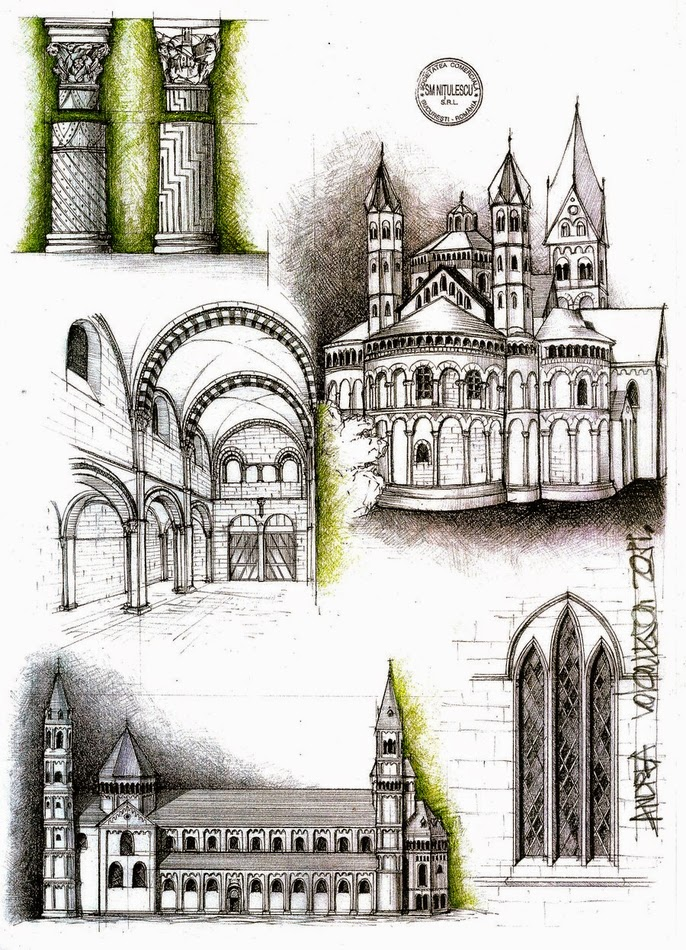 04-Romanic-Architecture-Andrea-Voiculescu-Drawings-of-Historic-Architecture-www-designstack-co