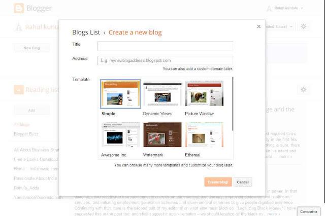 Cara Membuat Blog Gratis Di Blogspot dan Mulai Menghasilkan Uang