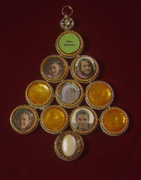 Better Budgeting: Homemade Christmas Ornaments: Family Tree