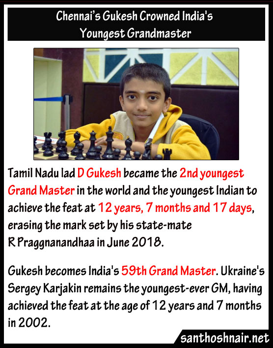 Chennai's Gukesh crowned India's youngest grandmaster