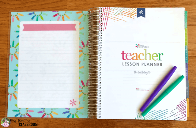Photo of Erin Condren Teacher Planner inside page