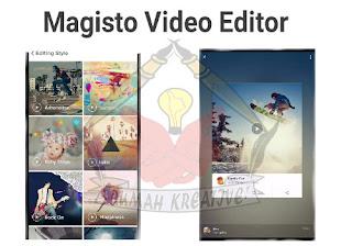Tampilan Magisto Video Editor