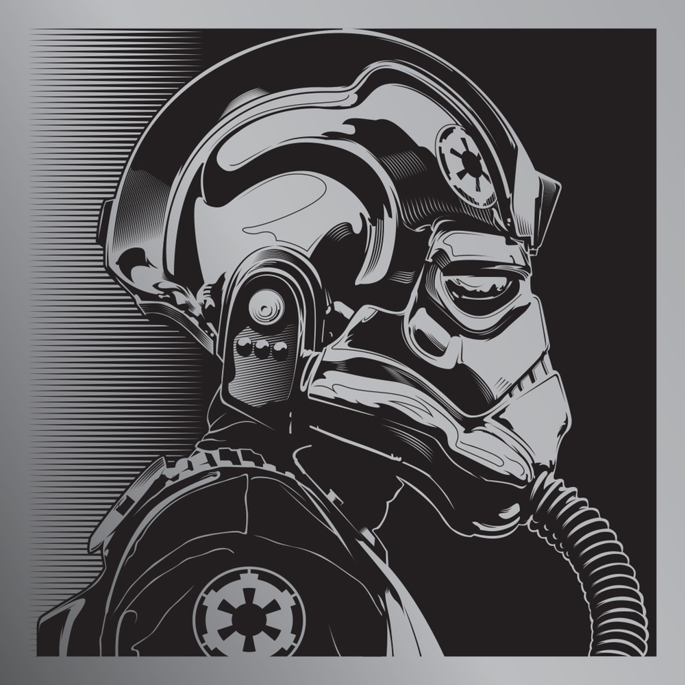 The Blot Says Star Wars Tie Pilot Print By Joshua Budich
