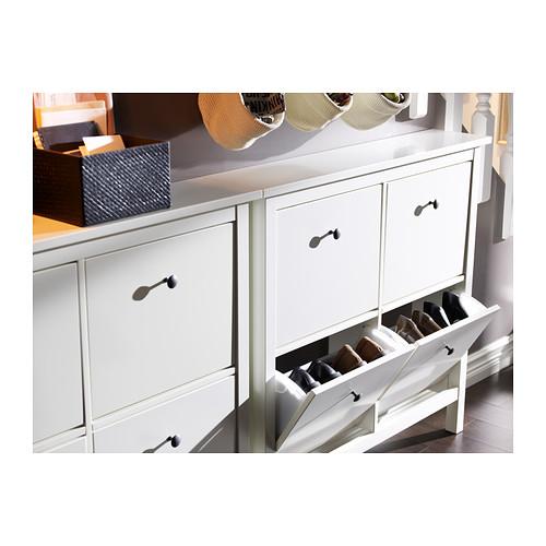 Ikea Hemnes Shoe Cabinet White  Compartment