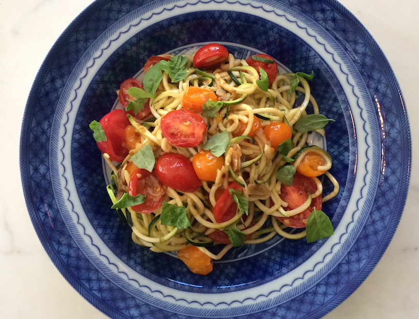 "Recipe: Late Summer ""Zoodles"" with Cherry Tomatoes"