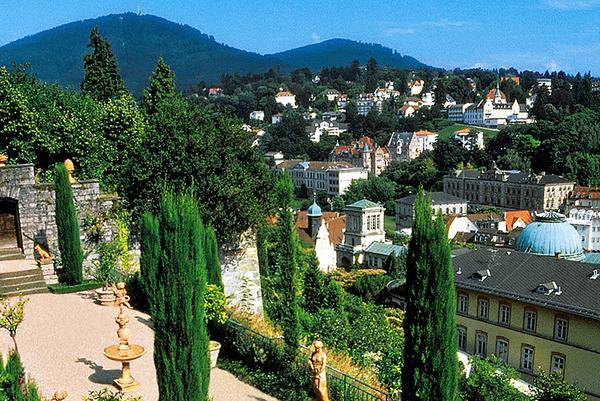 Vistas desde el Florentinenbeg,  Baden-Baden (Baden-Württenberg, Alemania)
