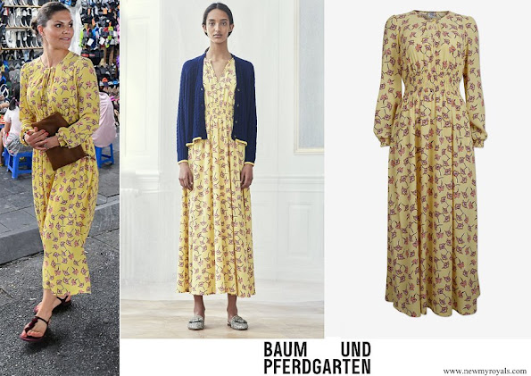 Crown Princess Victoria wore Baum und Pferdgarten Agnete Dress