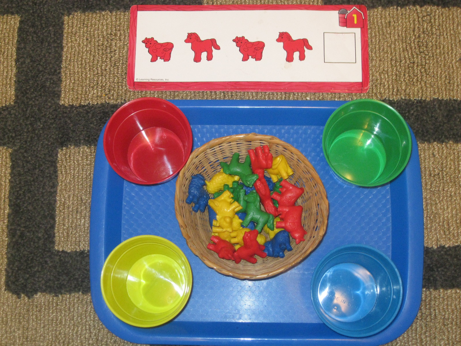 The Preschool Experiment Farm Theme Tot Trays