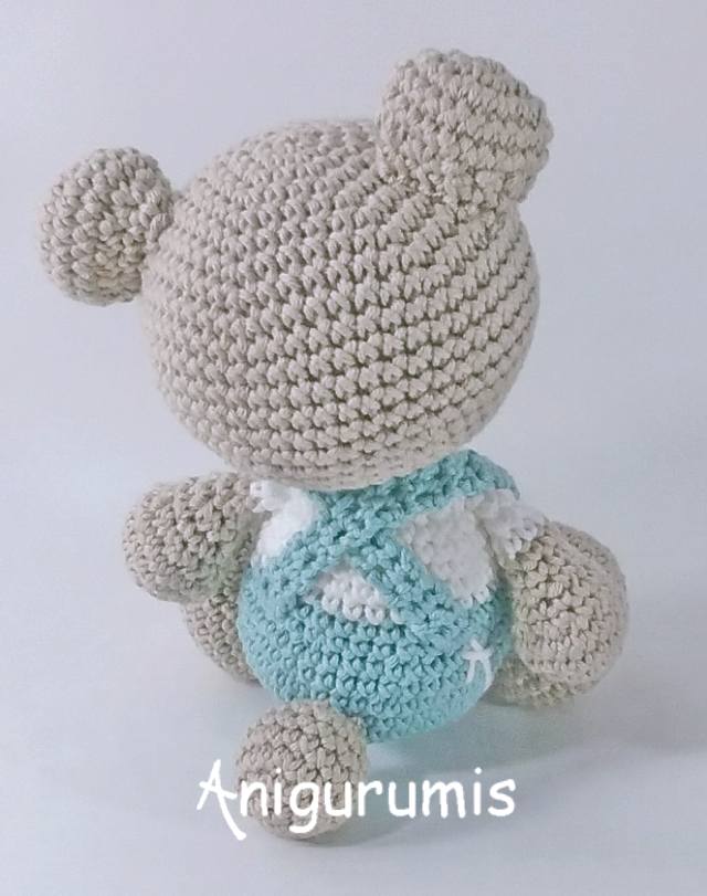 Osito amigurumi Tristan diseño de anigurumis