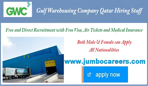 GWC Qatar Job vacancies, Available Ware house jobs in Qatar,