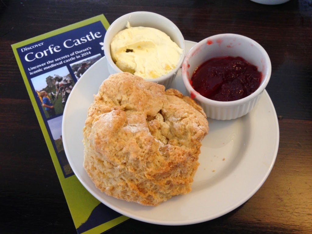 National Trust Corfe Castle scone