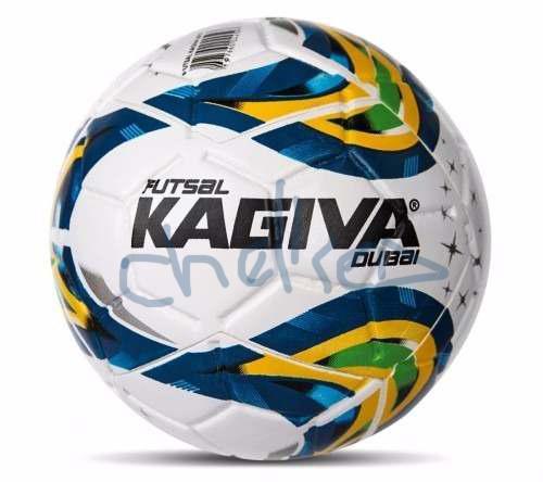 86aa9e6439 Bola Kagiva Futsal F5 Dubai. pertecente ao time do Chelsea Especificações  técnicas  - Categoria Adulto - Circunferência  62-64cm - Peso  400-430 g