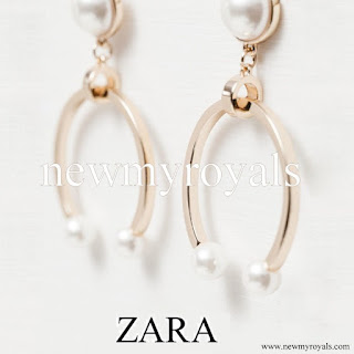 Princess Sofia style ZARA Golden Horseshoe Earrings