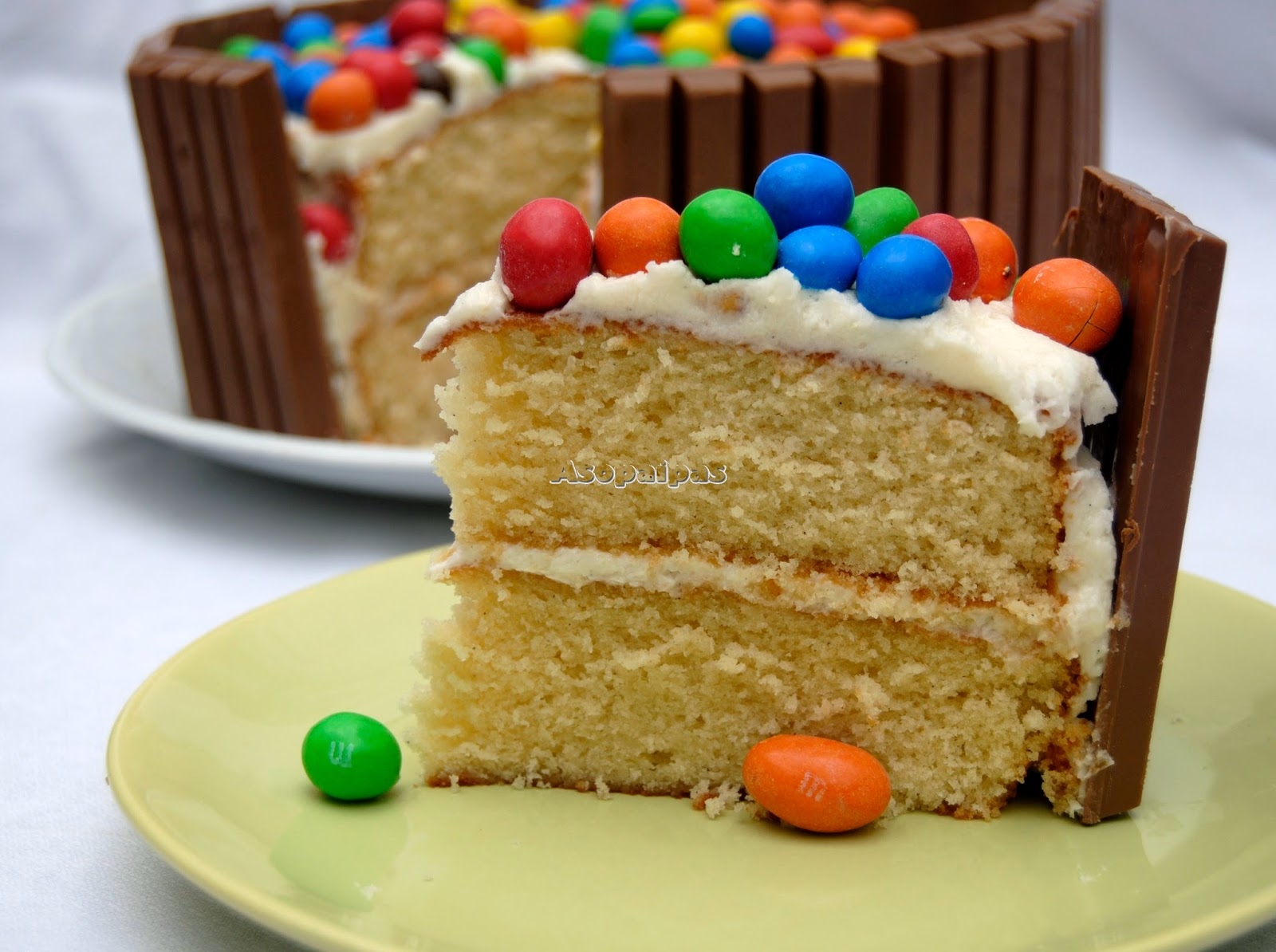 Tarta de Kitkat® y M&m´s®
